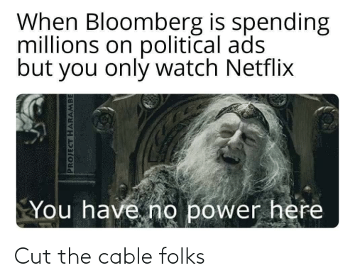 cable: Cut the cable folks