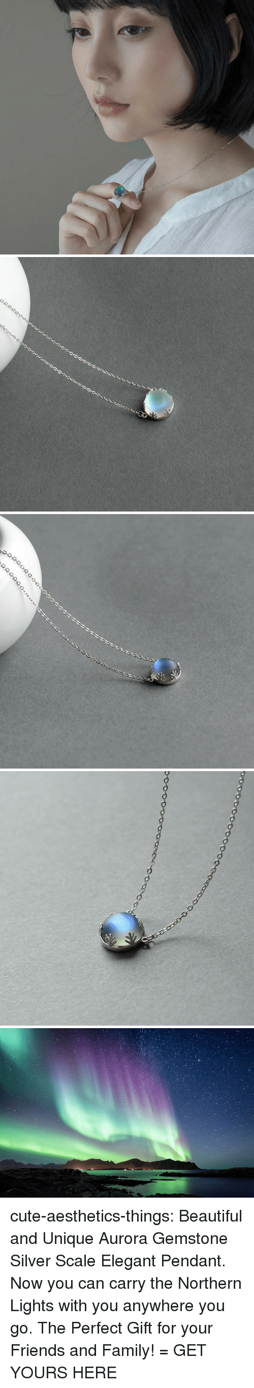 Gemstone: cute-aesthetics-things: Beautiful and Unique Aurora Gemstone Silver Scale Elegant Pendant. Now you can carry the Northern Lights with you anywhere you go. The Perfect Gift for your Friends and Family! = GET YOURS HERE