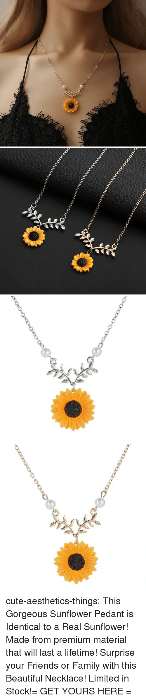 Beautiful, Cute, and Family: cute-aesthetics-things:  This Gorgeous Sunflower Pedant is Identical to a Real Sunflower! Made from premium material that will last a lifetime! Surprise your Friends or Family with this Beautiful Necklace! Limited in Stock!= GET YOURS HERE =