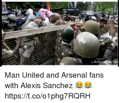 Alexis Sanchez: CyberLink  by ActionDirecto Man United and Arsenal fans with Alexis Sanchez 😂😂 https://t.co/o1phg7RQRH
