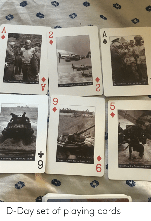 cards: D-Day set of playing cards