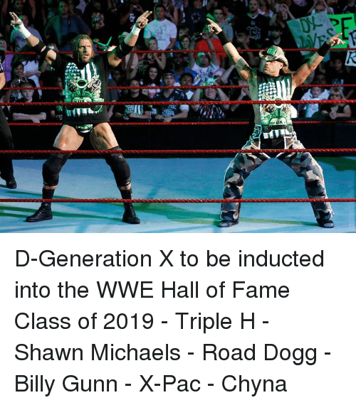 World Wrestling Entertainment: D-Generation X to be inducted into the WWE Hall of Fame Class of 2019  - Triple H - Shawn Michaels - Road Dogg - Billy Gunn - X-Pac - Chyna