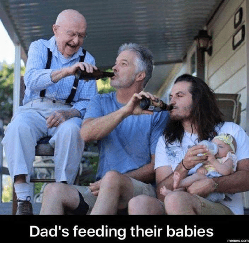 baby meme: Dad's feeding their babies  memes. COM