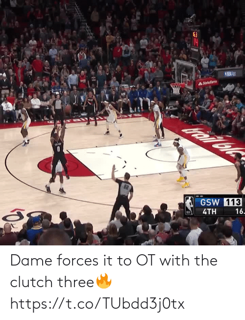 three: Dame forces it to OT with the clutch three🔥 https://t.co/TUbdd3j0tx