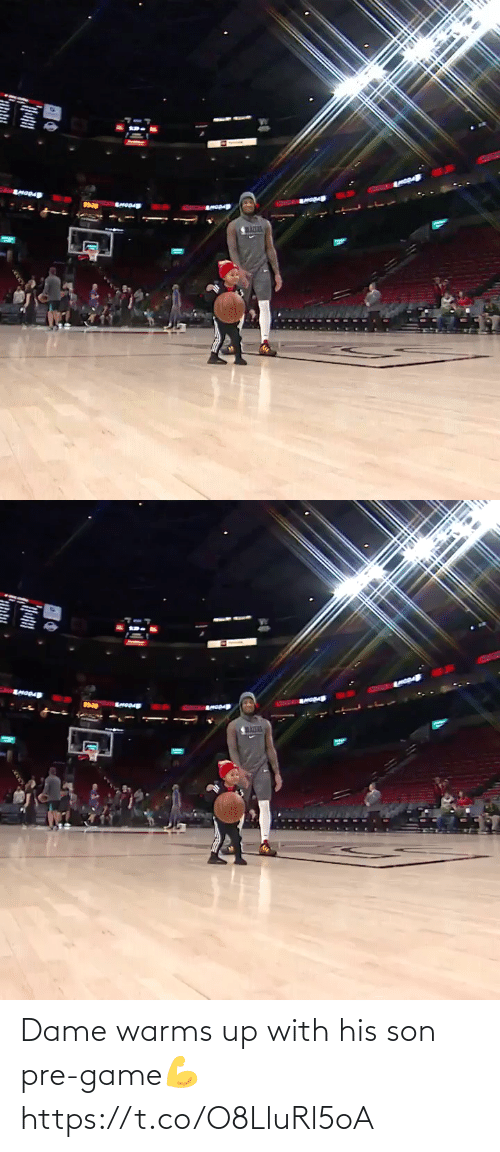 Pre: Dame warms up with his son pre-game💪 https://t.co/O8LluRl5oA