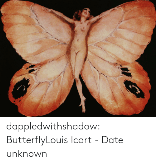 unknown: dappledwithshadow:  ButterflyLouis Icart - Date unknown
