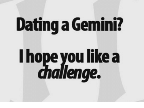 Dating a gemini