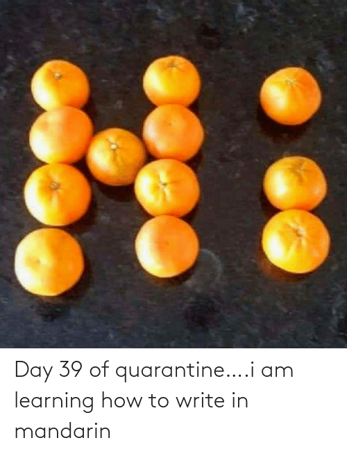 mandarin: Day 39 of quarantine….i am learning how to write in mandarin
