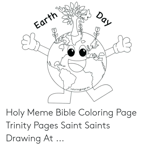 Bible Coloring: Day  Earth  Coloringpage.e Holy Meme Bible Coloring Page Trinity Pages Saint Saints Drawing At ...