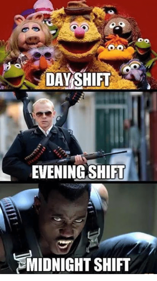 25 Best Memes About Day Shift Day Shift Memes