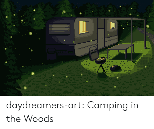in the woods: daydreamers-art: Camping in the Woods