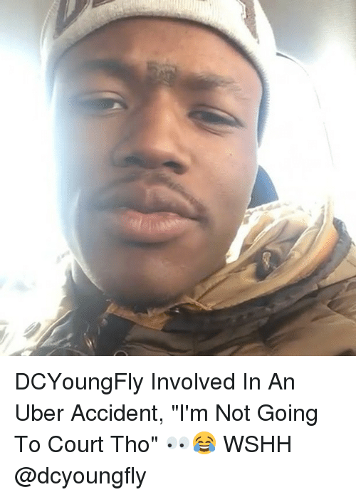 """Dcyoungfly: DCYoungFly Involved In An Uber Accident, """"I'm Not Going To Court Tho"""" 👀😂 WSHH @dcyoungfly"""