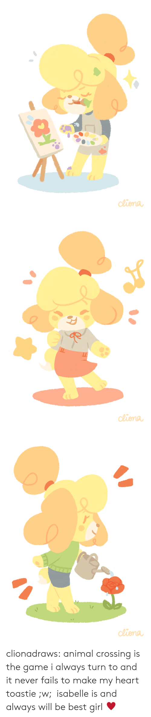 Target, The Game, and Tumblr: de clionadraws:   animal crossing is the game i always turn to and it never fails to make my heart toastie ;w; isabelle is and always will be best girl ♥