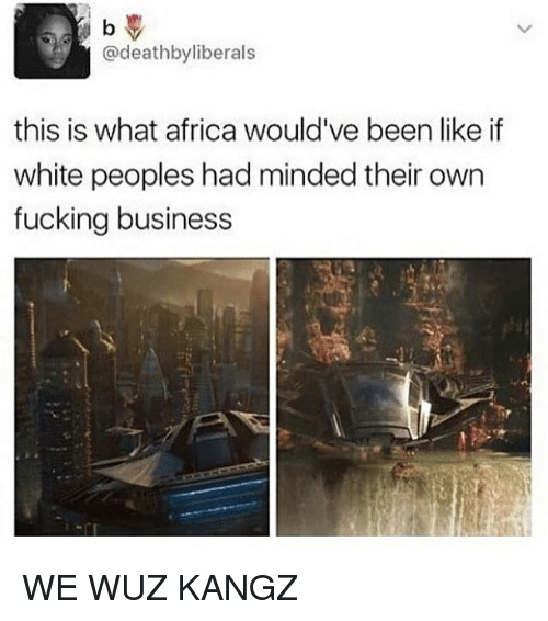 Wuz: @deathbyliberals  this is what africa would've been like if  white peoples had minded their own  fucking business WE WUZ KANGZ