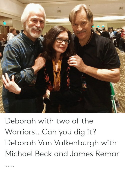 Memes, Beck, and Michael: Deborah with two of the Warriors.