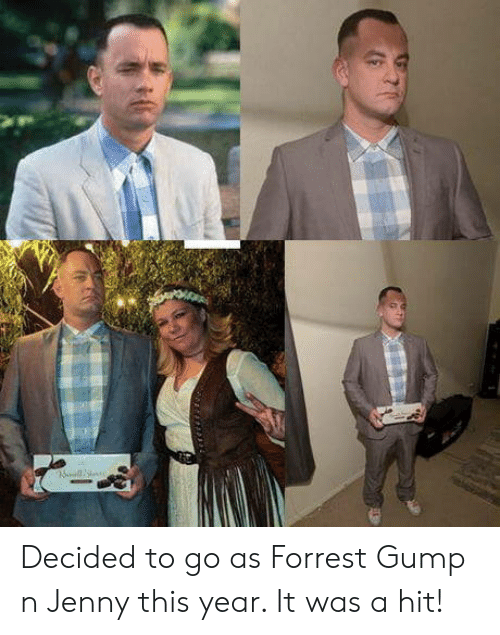 Forrest Gump: Decided to go as Forrest Gump n Jenny this year. It was a hit!