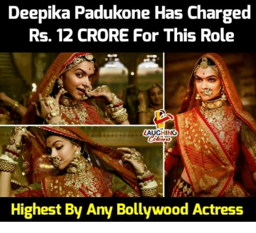 Bollywood: Deepika Padukone Has Charged  Rs, 12 CRORE For This Role  LAUGHING  Highest By Any Bollywood Actress