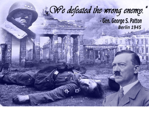 Defeated Tho Mong Onomn Gen George S Patton Berlin 1945 Meme On