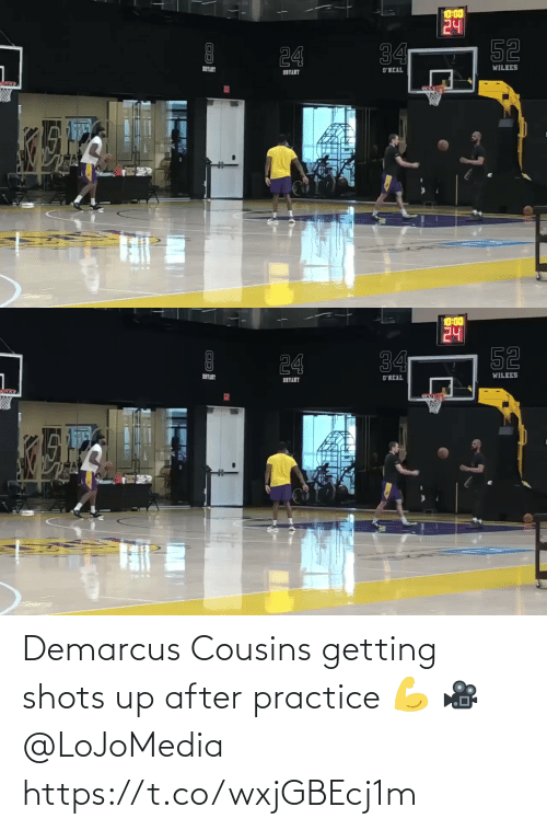 DeMarcus Cousins: Demarcus Cousins getting shots up after practice 💪  🎥 @LoJoMedia    https://t.co/wxjGBEcj1m