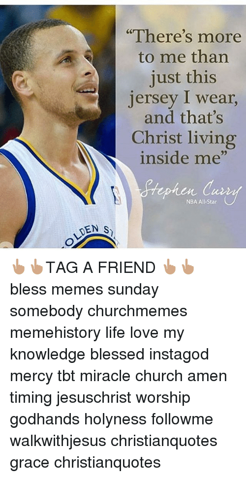 """nba all stars: DEN S  """"There's more  to me than  just this  Jersey I wear,  and that's  Christ living  inside me""""  NBA All-Star 👆🏽👆🏽TAG A FRIEND 👆🏽👆🏽 bless memes sunday somebody churchmemes memehistory life love my knowledge blessed instagod mercy tbt miracle church amen timing jesuschrist worship godhands holyness followme walkwithjesus christianquotes grace christianquotes"""
