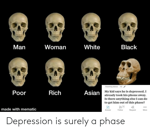 Depression: Depression is surely a phase