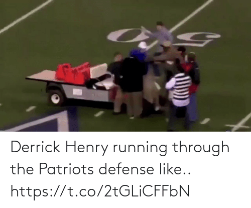 Patriotic: Derrick Henry running through the Patriots defense like.. https://t.co/2tGLiCFFbN