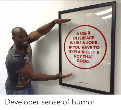 developer: Developer sense of humor