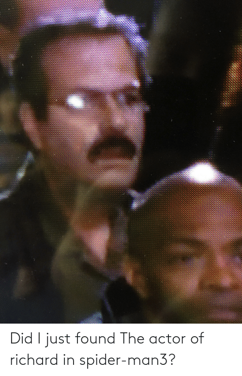 Found The: Did I just found The actor of richard in spider-man3?