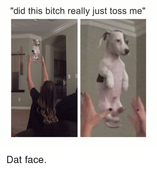 """dat face: """"did this bitch really just toss me"""" Dat face."""