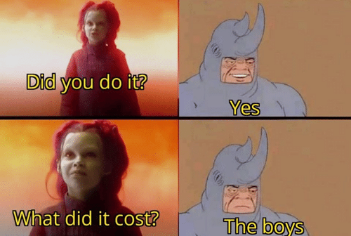 What Did It: Did you do it?  Yes  What did it cost?  The boys