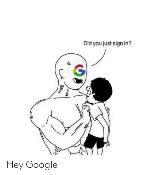 did: Did you just sign in? Hey Google