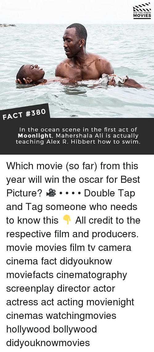 moonlighting: DID YOU KNOW  MOVIES  FACT #380  In the ocean scene in the first act of  Moonlight, Mahershala Ali is actually  teaching Alex R. Hibbert how to swim. Which movie (so far) from this year will win the oscar for Best Picture? 🎥 • • • • Double Tap and Tag someone who needs to know this 👇 All credit to the respective film and producers. movie movies film tv camera cinema fact didyouknow moviefacts cinematography screenplay director actor actress act acting movienight cinemas watchingmovies hollywood bollywood didyouknowmovies