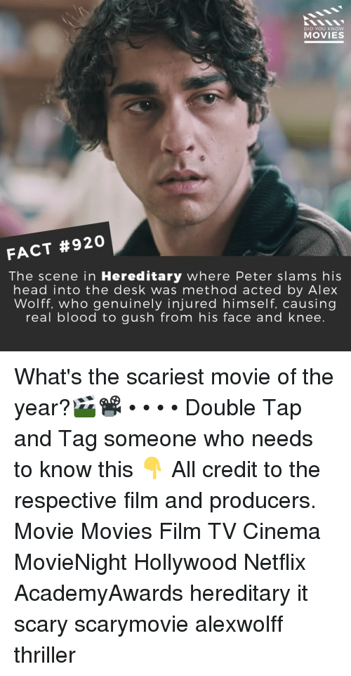 Did You Know Movies Fact 920 The Scene In Hereditary Where Peter