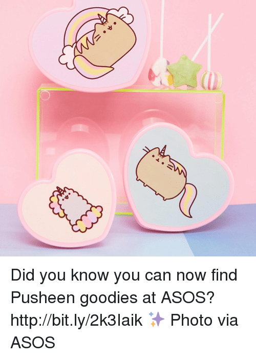 Pusheens: Did you know you can now find Pusheen goodies at ASOS? http://bit.ly/2k3Iaik ✨ Photo via ASOS