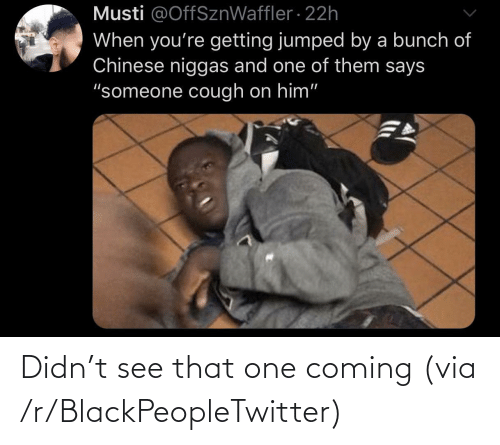 Didn: Didn't see that one coming (via /r/BlackPeopleTwitter)
