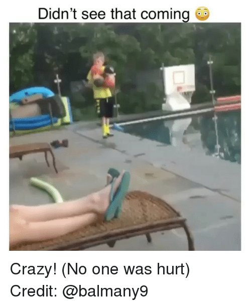 Crazy, Memes, and 🤖: Didn't see that coming Crazy! (No one was hurt) Credit: @balmany9