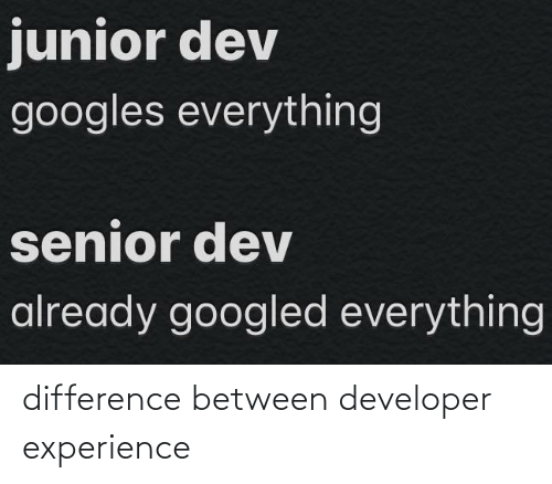 developer: difference between developer experience