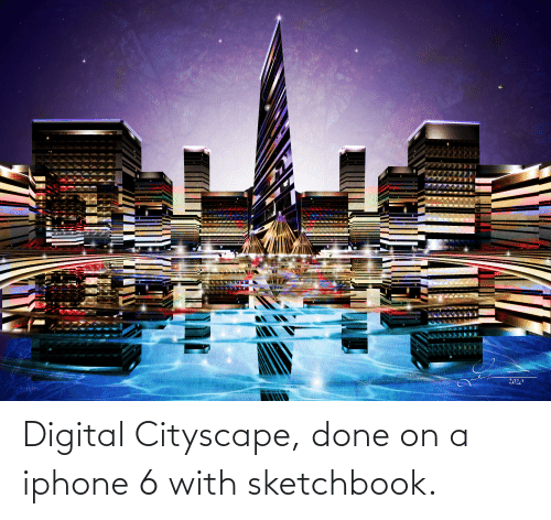 Iphone 6: Digital Cityscape, done on a iphone 6 with sketchbook.