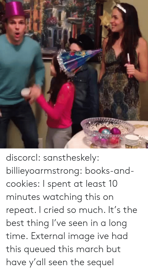 Books, Cookies, and Tumblr: discorcl: sanstheskely:  billieyoarmstrong:  books-and-cookies:  I spent at least 10 minutes watching this on repeat. I cried so much. It's the best thing I've seen in a long time.  External image  ive had this queued this march   but have y'all seen the sequel