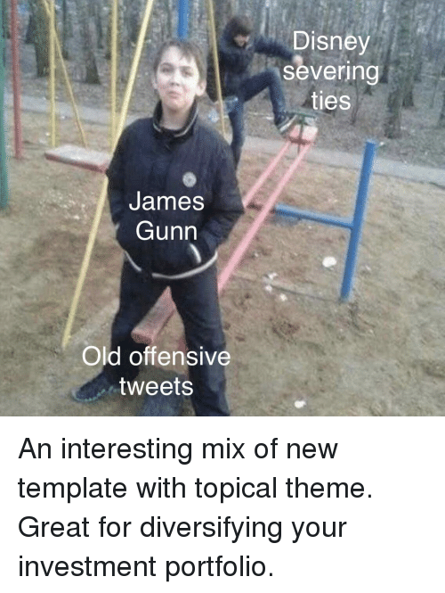 Disney Severing Ties James Gunn Old Offensive Tweets Disney Meme