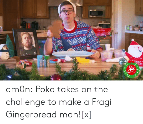 gingerbread: dm0n:  Poko takes on the challenge to make a Fragi Gingerbread man![x]