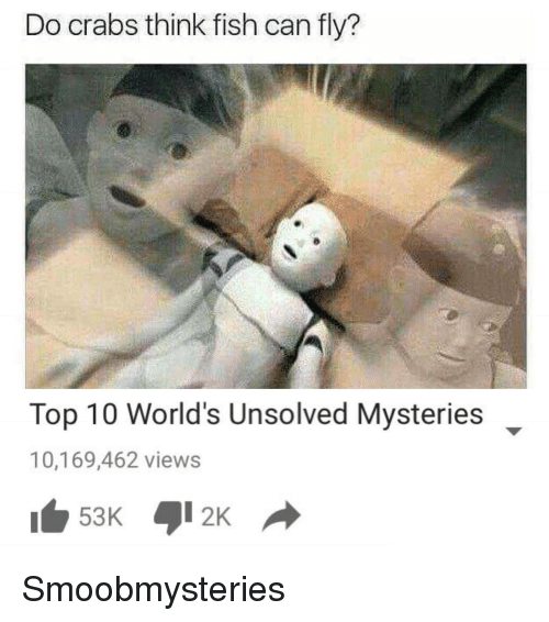 Fish, Smooby, and Unsolved Mysteries: Do crabs think fish can fly?  Top 10 World's Unsolved Mysteries  10,169,462 views