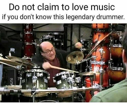 Drummers: Do not claim to love music  if you don't know this legendary drummer.