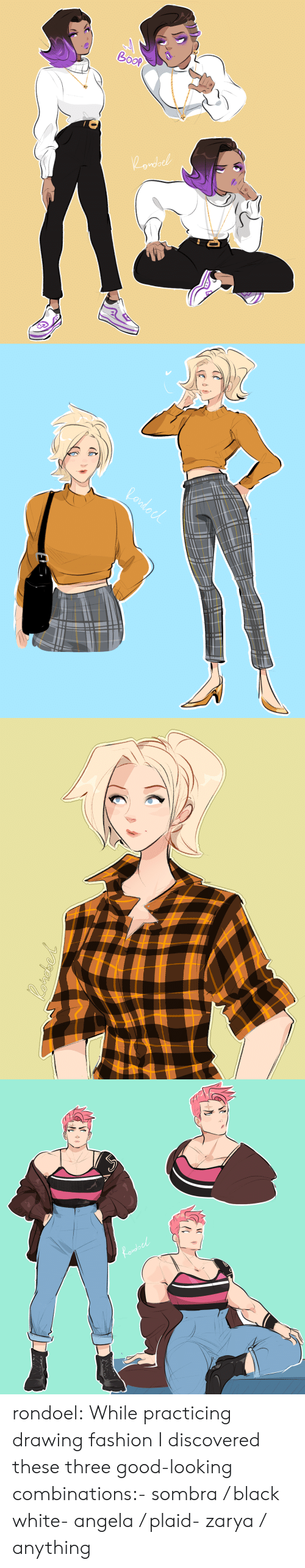 plaid: do rondoel:  While practicing drawing fashion I discovered these three good-looking combinations:- sombra / black  white- angela / plaid- zarya / anything