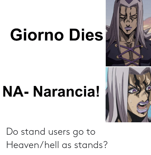 Heaven: Do stand users go to Heaven/hell as stands?