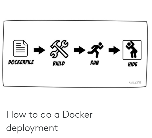 Run, How To, and How: DOCKERFILE  RUN  BUILD  HIDE  Rec 2019 How to do a Docker deployment