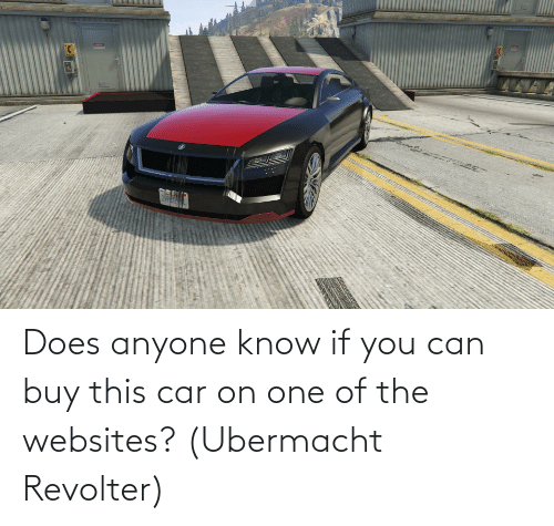 websites: Does anyone know if you can buy this car on one of the websites? (Ubermacht Revolter)