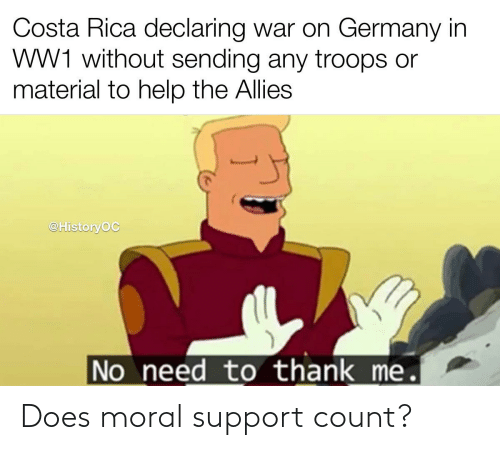 support: Does moral support count?