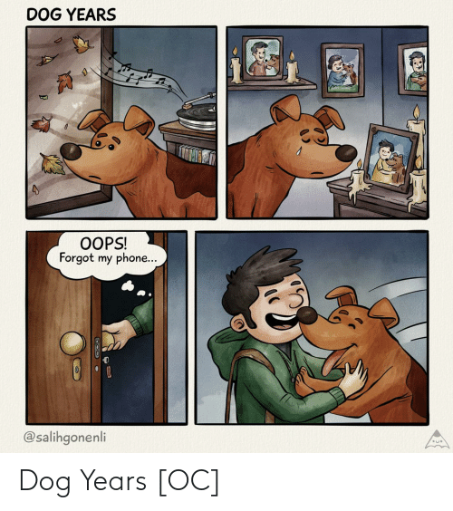 oops: DOG YEARS  OOPS!  Forgot my phone...  @salihgonenli Dog Years [OC]