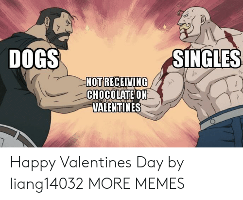Happy Valentine: DOGS  SINGLES  NOT RECEIVING  CHOCOLATE ON  VALENTINES Happy Valentines Day by liang14032 MORE MEMES